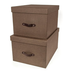 Ordinaire Bigso Box Of Sweden, Inc   Tore Set Of 2 Nested Lidded Boxes W/