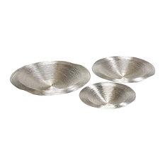 Decorative Round Metal Plates, 3-Piece Set