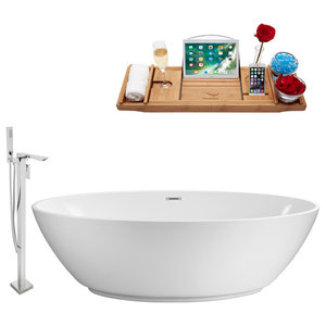 """Faucet and Tub Set Streamline 63"""" Freestanding NH420-140"""