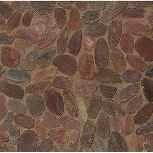 Decorative Pebble Henna Red Hemisphere Mosaic
