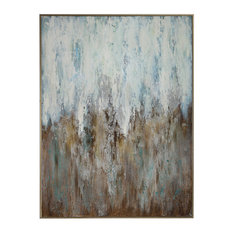 """Extra Large Turquoise Bronze Gold 49"""" Painting   Green Blue Brown Wall Art"""