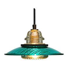 50 most popular green pendant lights for 2018 houzz insulatorlights by railroadware insulator light 8 traffic light lens pendant green led aloadofball Choice Image