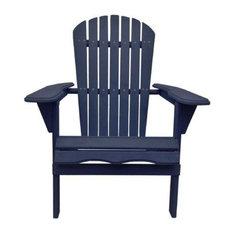 Lovely THY HOM   Villaret Adirondack Chair Navy Blue   Adirondack Chairs