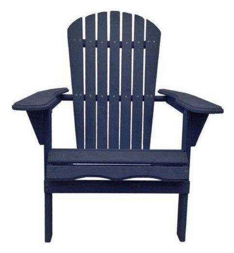 Villaret Adirondack Chair Navy Blue