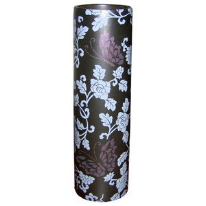 Pachyderme Butterfly Vase, Black, Extra Large, Lima