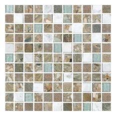 "11.8""x11.8"" Milano Selene Summer Mosaic, Set of 10"