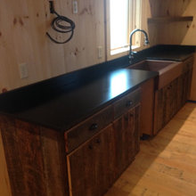 Black Leather Kitchenette and Bar
