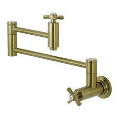 Kingston Brass KS8107ZX Wall Mount Pot Filler Kitchen Faucet