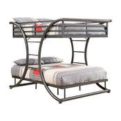 Coaster Stephan Full over Full Bunk Bed in Gunmetal