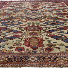 Esmaili Rugs - Antique Persian Ziegler Mahal Sultanabad Oversize Rug Consigned, 13'7x19'9 - Area Rugs