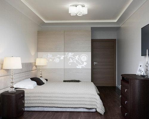 Chambre adulte avec sol en stratifi photos et id es - Sol stratifie chambre ...