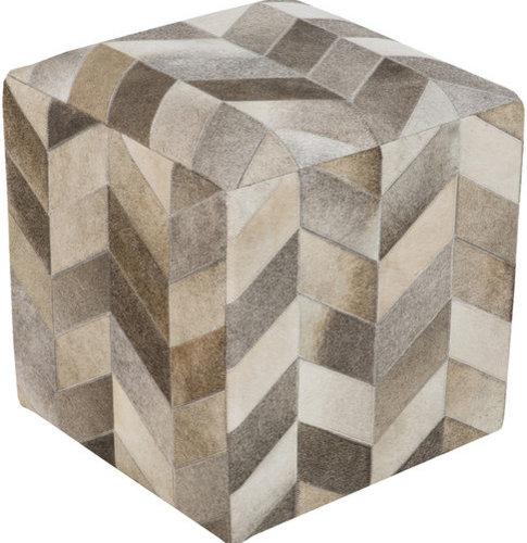 Surya Poufs- (POUF-242) - Floor Pillows And Poufs