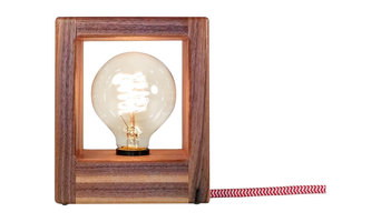 Type O Lamp: Modern Sconce or Desk Lamp Edison Toggle Switch Cotton Cord