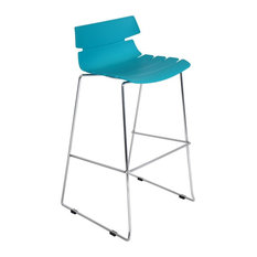 Lumisource Bonefish Bar Stool In Aqua Blue Stools And Counter