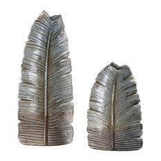 Uttermost Invano Leaf Vases, Set of 2