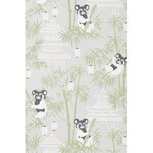 Bamboo Wallpaper, Grey