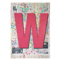 """W1"",Spray Paint Painting"