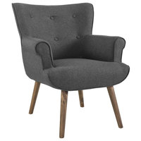 Cloud Upholstered Armchair, Gray