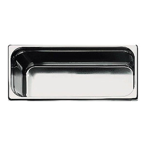1//2 Paderno World Cuisine 12 1//2 inches by 10 1//2 inches Stainless-steel Hotel Pan depth: 1 1//2 inches 14105-04
