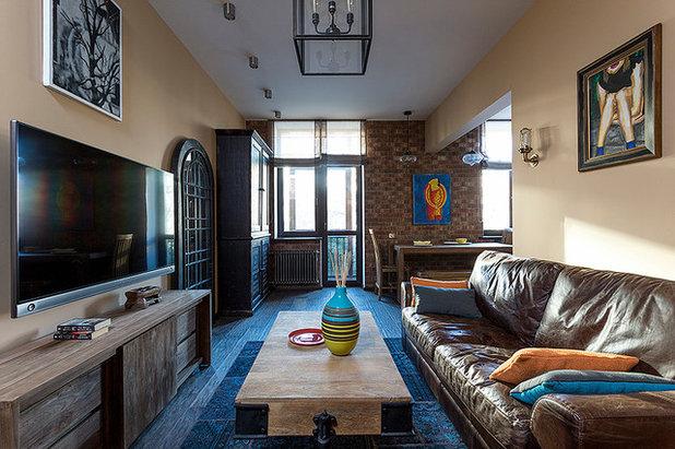 кухня студия 20 кв м фото дизайна в стиле лофт