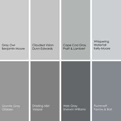 Color feast when to use gray in the dining room for Grey interior paint colors