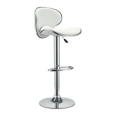 modway saddleback bar stool white bar stools and counter stools - White Leather Bar Stools