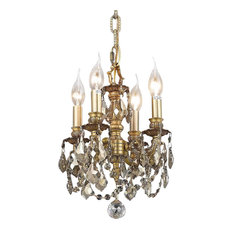 9104 Lille Collection Hanging Fixture, Golden Shadow, Royal Cut