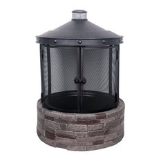 Living Accents SRFP41301 Outdoor Fireplace, 46""