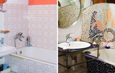 Reader Bathroom: An $850 Gaudí-Inspired Makeover in Romania