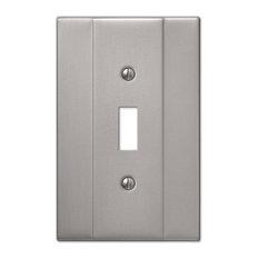 Italia Steel 1-Toggle Wall Plate, Brushed Nickel