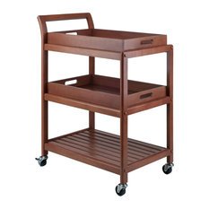 Winsome Wood Transitional Walnut Composite Wood Cart