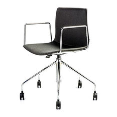 bu0026t design rest office chair with arms oslo gray fabric 5way