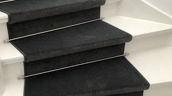 Tæppe på trappe