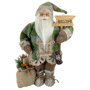12 5 Joyful Santa Claus Gnome With Lantern Christmas Figure Holiday Accents And Figurines By Northlight Seasonal