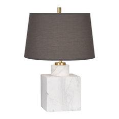 Robert Abbey Jonathan Alder Canaan Small Table Lamp, Smoke Gray Fabric