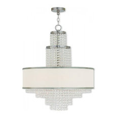 Livex, Prescott 6-Light Chandelier, Brushed Nickel