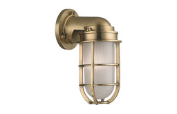 Carson, One Light Wall Sconce, Aged Brass Finish