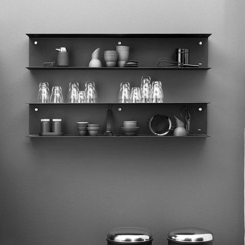 Vipp 921 Hylla, Liten, Svart - Display & væghylder