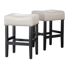GDFStudio - Ralph Off-White Leather Backless Counter Stool Set of 2 - Bar  sc 1 st  Houzz & Backless Counter Height Stools | Houzz islam-shia.org