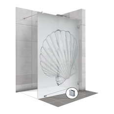 "Fixed Shower Screens With Shell Design, Semi-Private, 27 1/2""x71"""