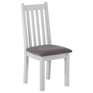 Classic Dining Chair With Plush Fabric Seat, Taupe