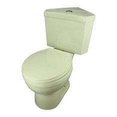 Dual Flush Round Corner Toilet Biscuit China Bowl Push Button