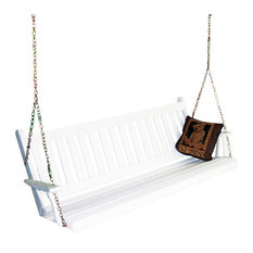 6' Pine Porch Swing in Traditional English Style, White