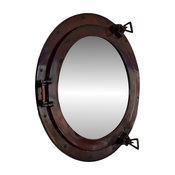 Deluxe Class Antique Copper Porthole Mirror 20'', Decorative Porthole Mirror