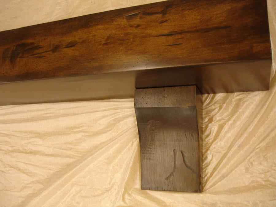 maple distressed mantel