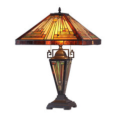 Innes 3-Light Mission Double Lit Table Lamp