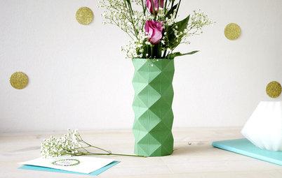 Hazlo tú mismo: Fabrica un original jarrón de origami