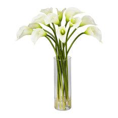 Mini Calla Lily Silk Flower Arrangement
