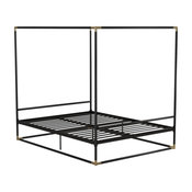 Celeste Canopy Metal Bed, Black, Queen