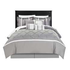 chic home vermont gray king 8piece comforter bed in a bag set - Oversized King Comforter
